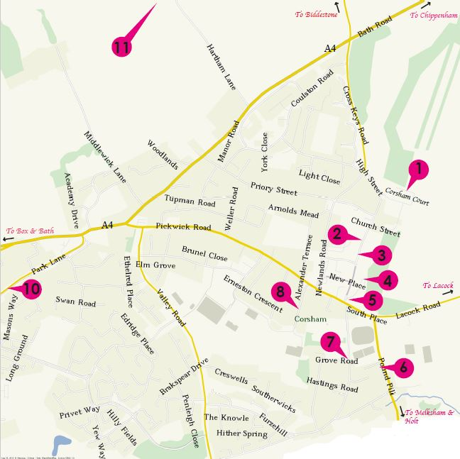 Peacock Arts Trail Map of Corsham