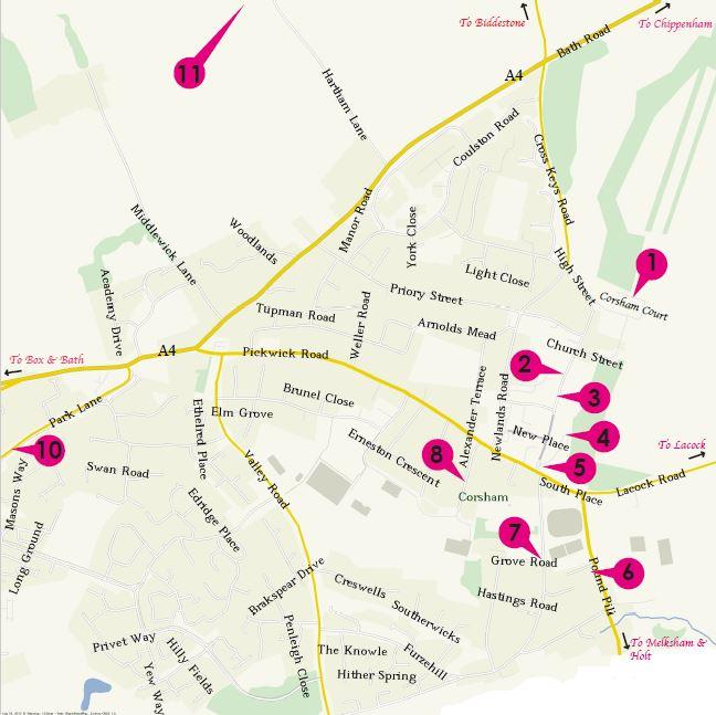 Peacock Arts Trail Map of Corsham