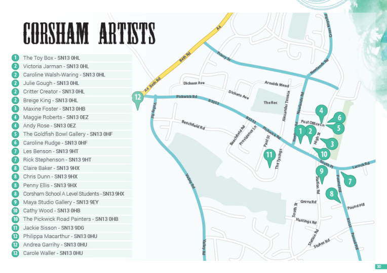 corsham map